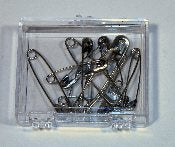 SAFETY PINS, BULK 12 IN PLASTIC BOX