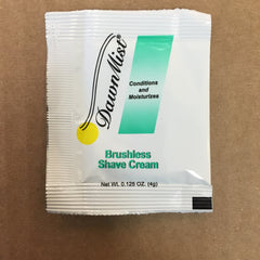 SHAVE CREAM, PILLOW PACK