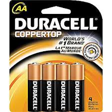 4 pack AA Duracell Coppertop