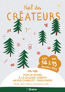 Pop Up Store de Noël - le 14/15 Décembre