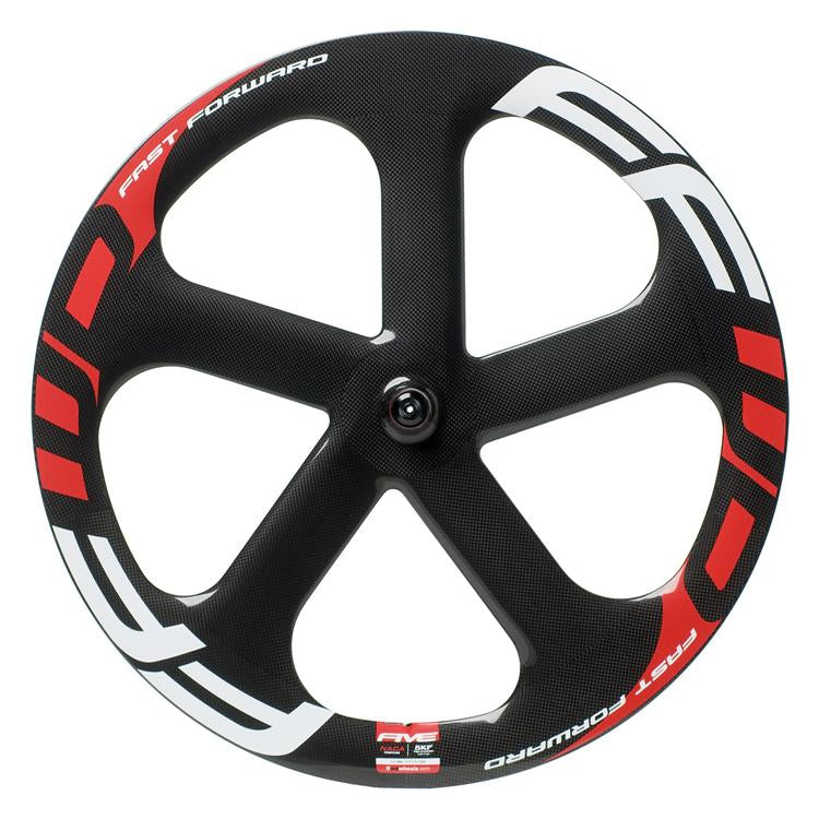 FFWD Five-T Carbon Tubular Front Wheel - Black/Red- call for availability