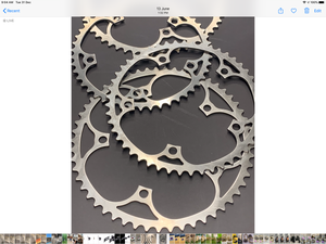 NZ made West steel  chainrings