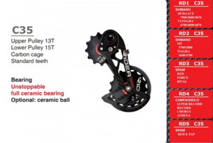 Over sized derailleur pulley system-Ridea RD2 C35