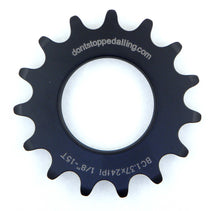 Load image into Gallery viewer, DSP CNC machined black anodise steel sprockets