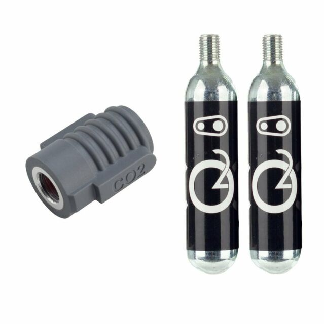 Crank Bothers Klic CO2 Inflator + 2 Threaded Cartridges