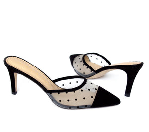 MAXINE in black polka dot fabric - Allegra James