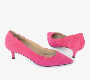 PEGGY in fuchsia suede - Allegra James