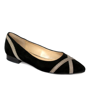 MAYS in black suede - Allegra James