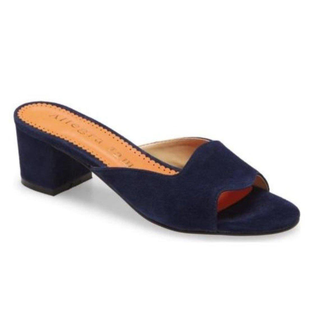 LORA slide in navy suede - Allegra James