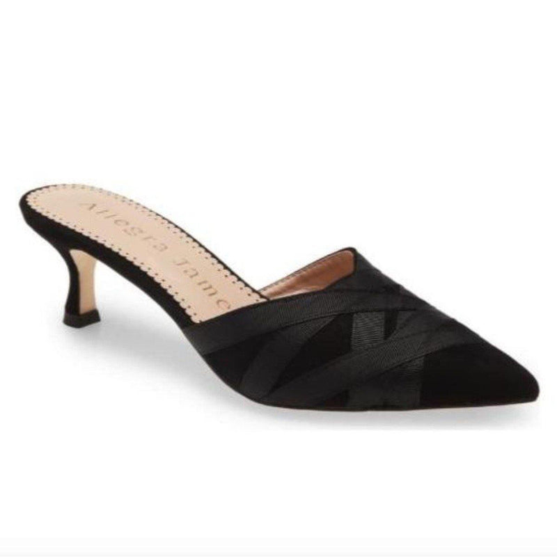 GINGER mule in black suede - Allegra James