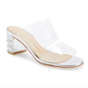 ANNE slide in sliver leather - Allegra James