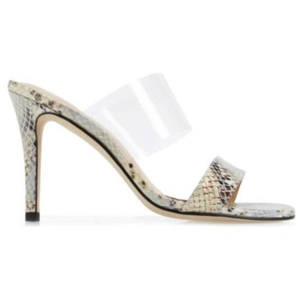 DANCE sandal in snake embossed leather - Allegra James
