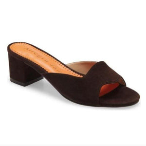 LORA slide in brown suede - Allegra James