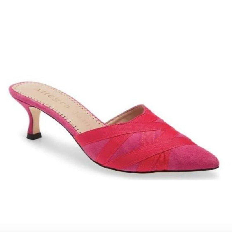 GINGER mule in fuchsia suede - Allegra James