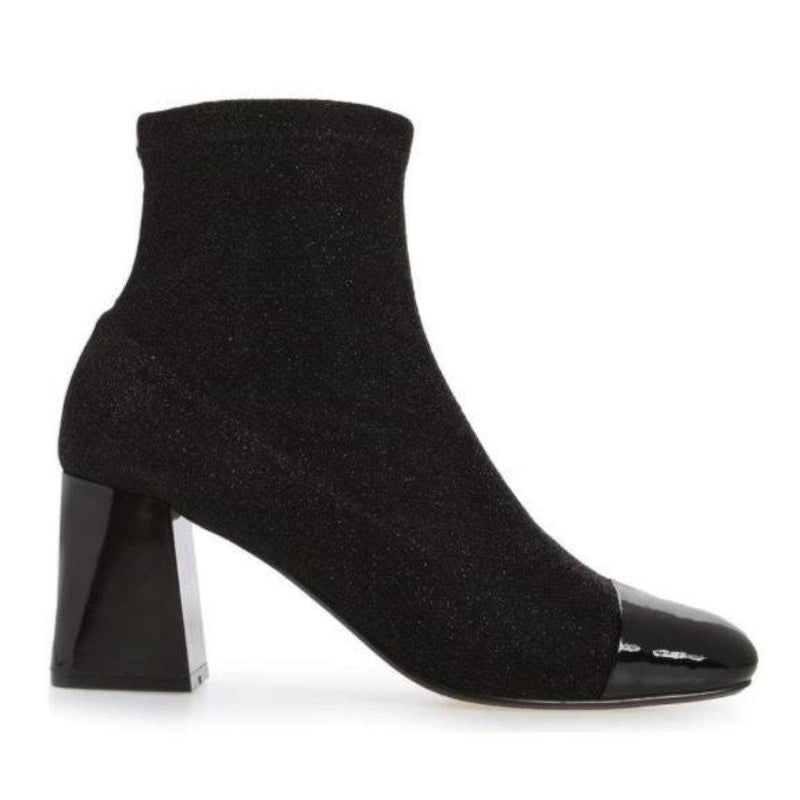VANESSA bootie in black sparkle knit - Allegra James