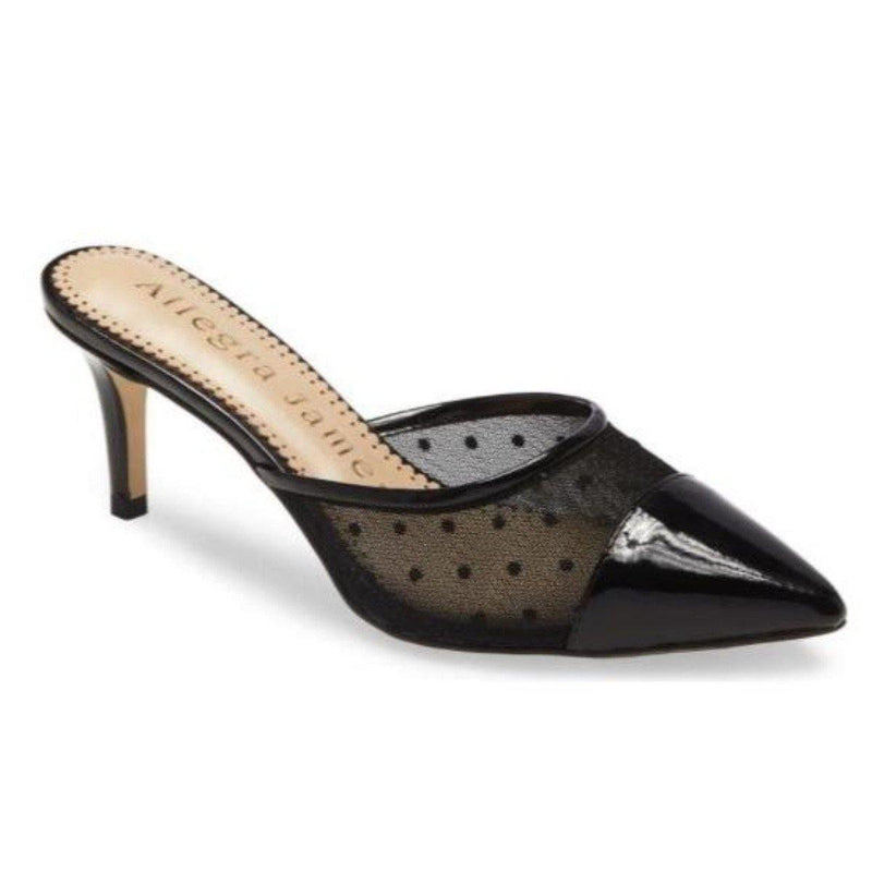 MALLY black polka dot and black patent - Allegra James