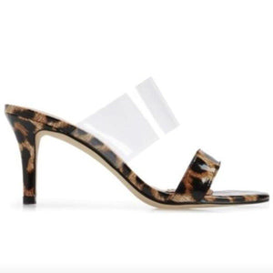 CHASE sandal in leopard patent - Allegra James