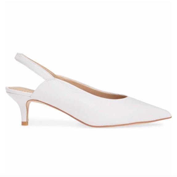 CELINE slingback in white leather - Allegra James