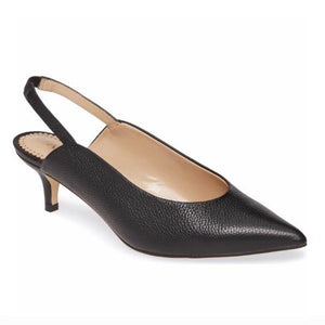 CELINE slingback in black leather - Allegra James