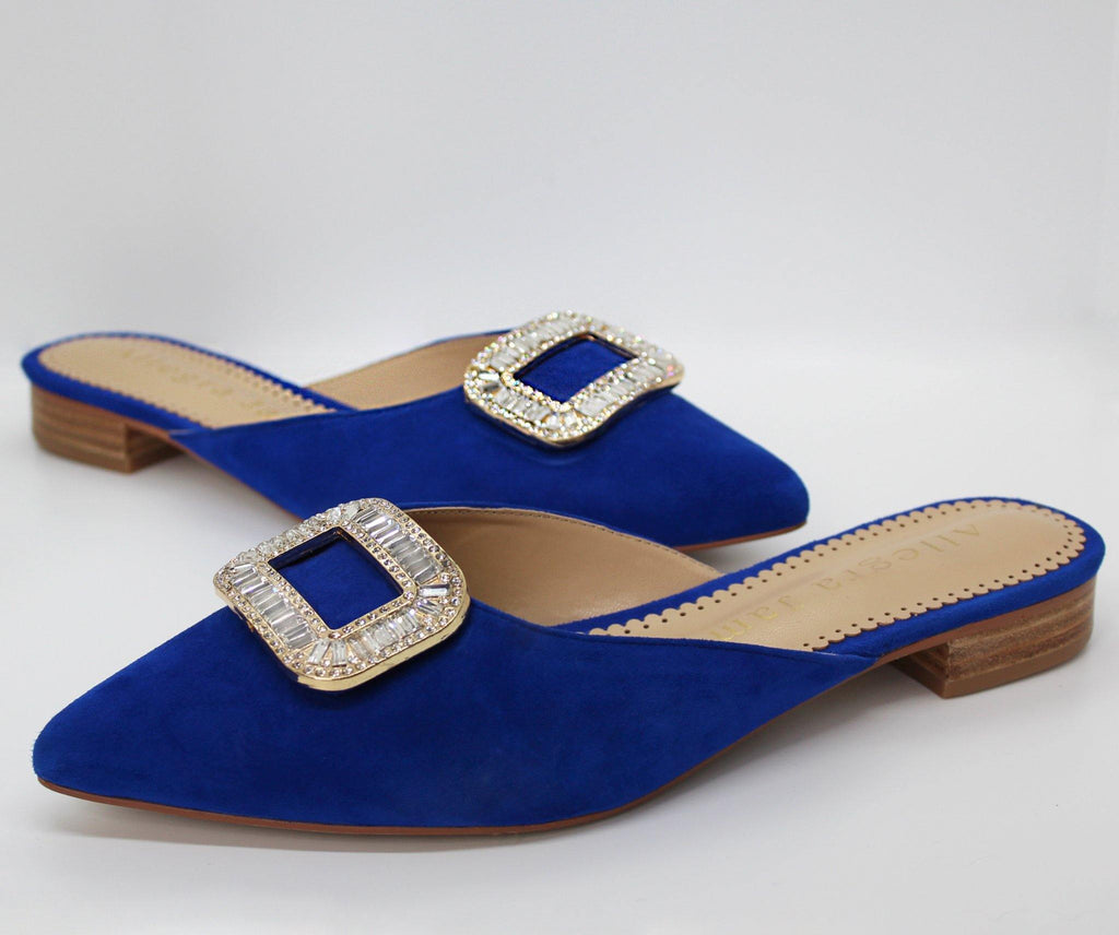 LISA slide in cobalt suede - Allegra James