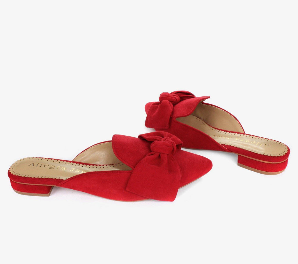 RENE in red suede - Allegra James