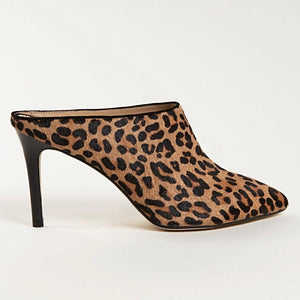CARRIE Mule in Leopard Hair Calf - Allegra James