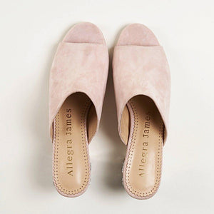CINDY Mule in Blush Suede - Allegra James