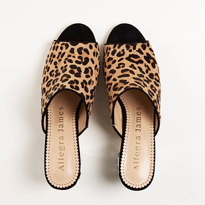 CINDY Mule in Leopard Hair Calf - Allegra James