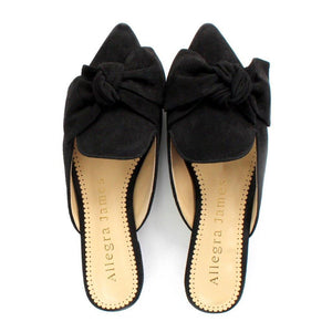 RENE in black suede - Allegra James