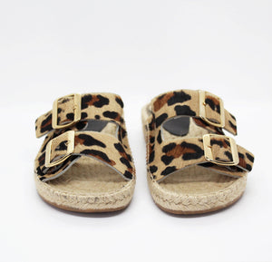 SAGE espadrille in leopard hair calf - Allegra James