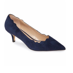 PEGGY in navy suede - Allegra James