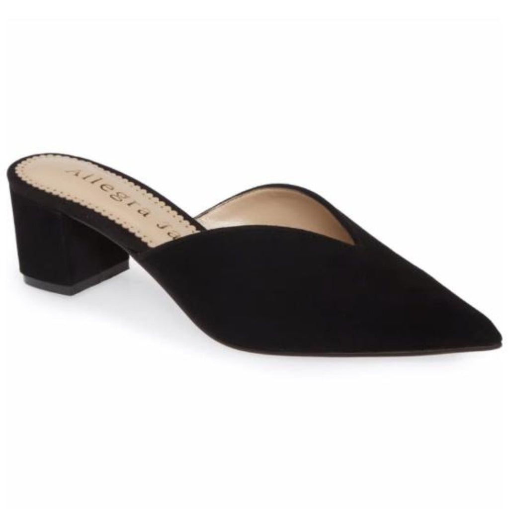 FIONA mule in black suede - Allegra James