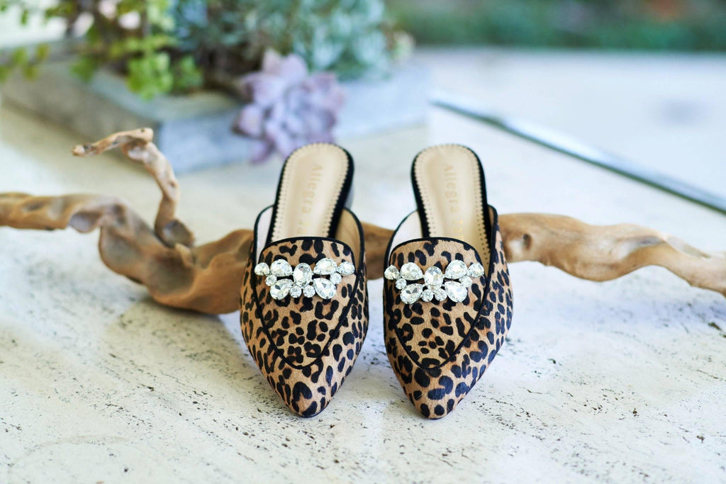 KAY Slide in Leopard Hair Calf - Allegra James