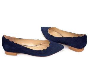 KAREN in navy suede - Allegra James