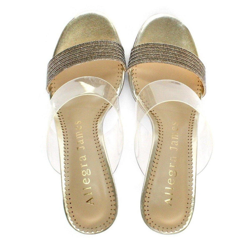 DANCE sandal in gold fabric - Allegra James