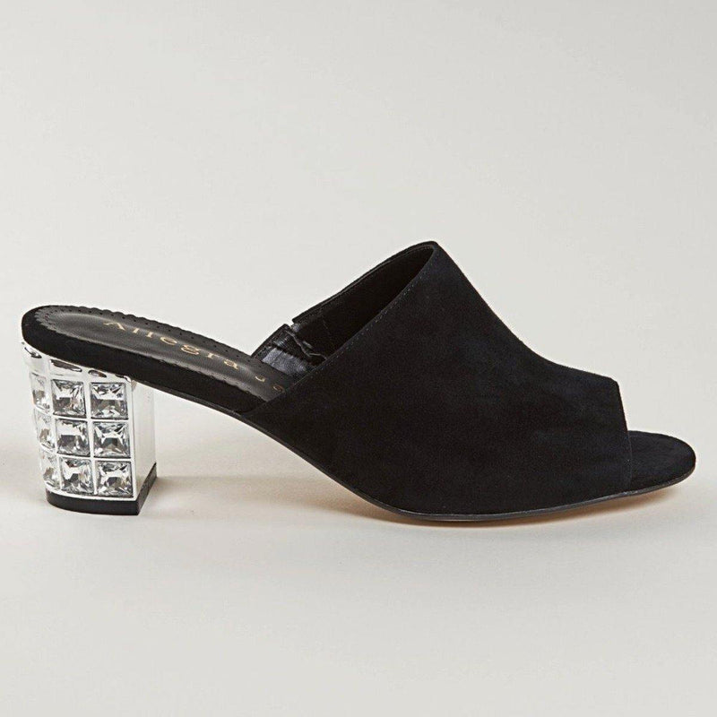 CINDY Mule in Black Suede - Allegra James