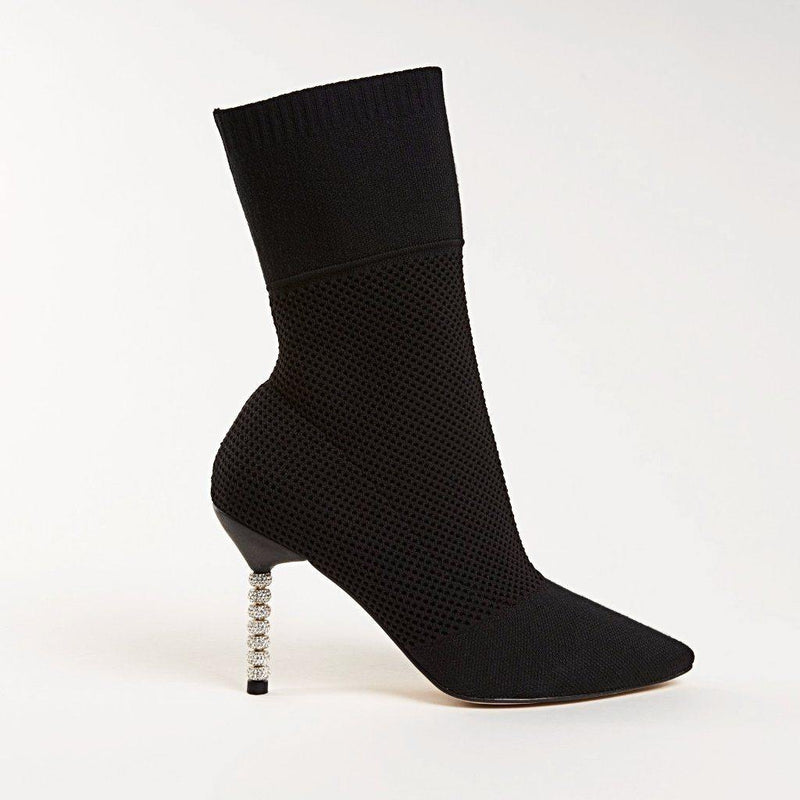 LANA Bootie in Black Knit - Allegra James