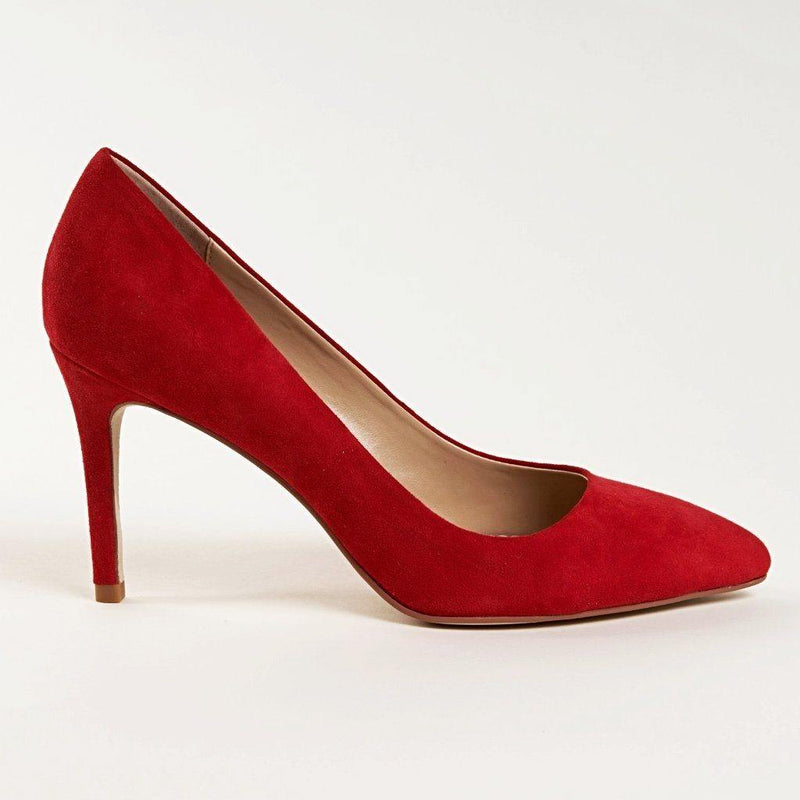 MANDY Pump in Red Suede - Allegra James