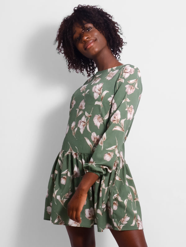 Willow Drop Waist Floral Dress
