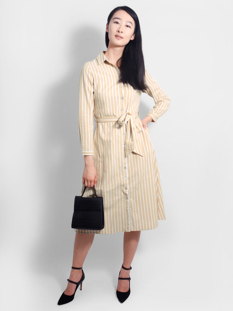 Calypso Stripe Shirt Dress