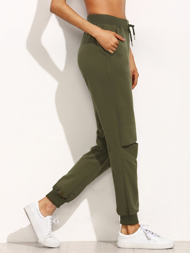 Knee Slit Trackpant