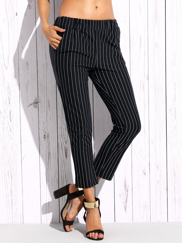 London Striped Capri Pant