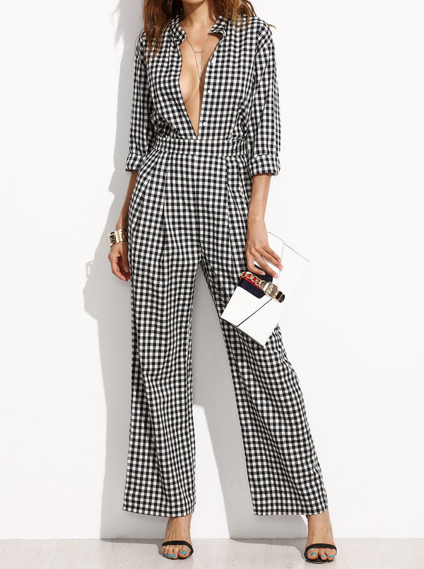 Hennley Gingham Jumpsuit