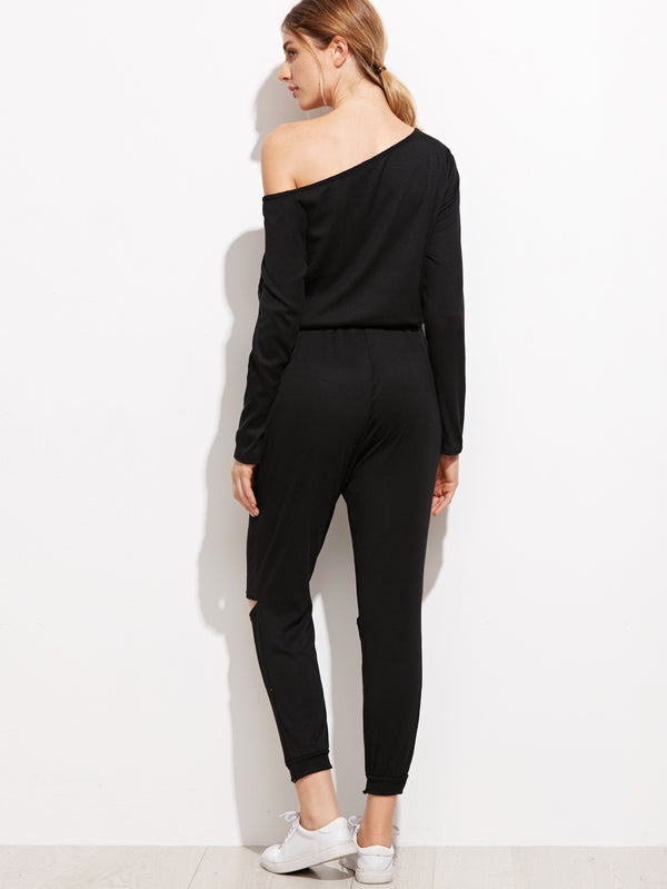 Myres One Shoulder Jumpsuit