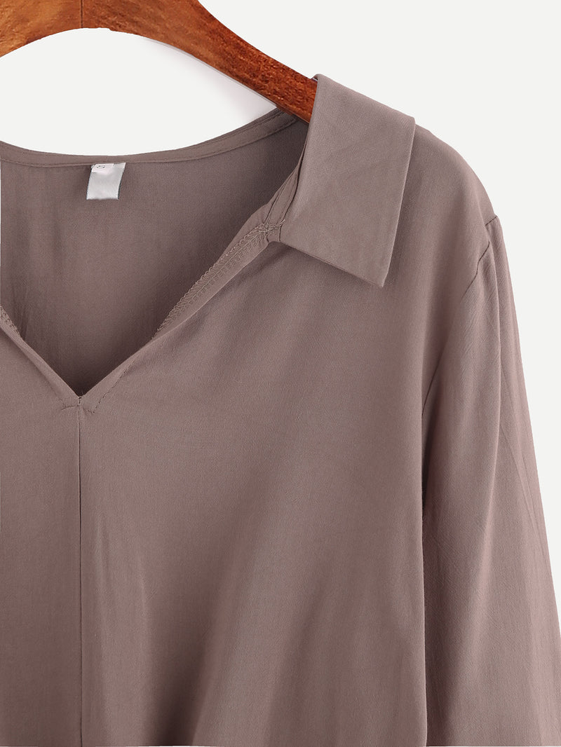 Harper Front Knot Blouse