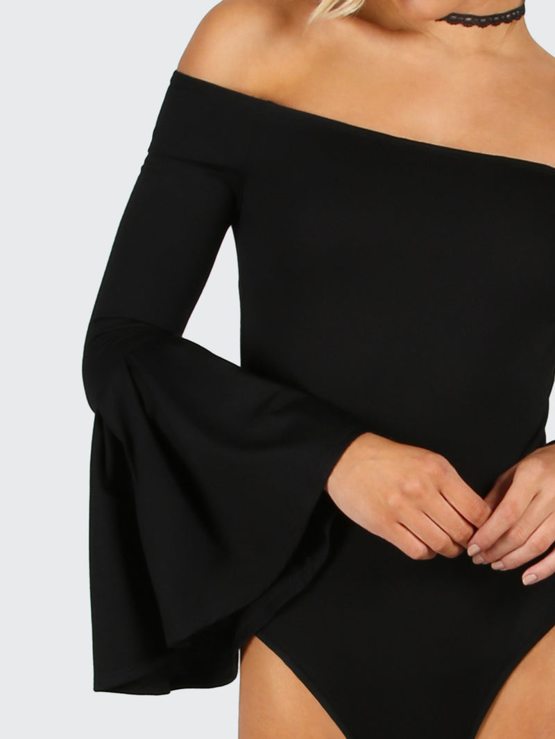 Allure Off Shoulder Bell Flare Bodysuit