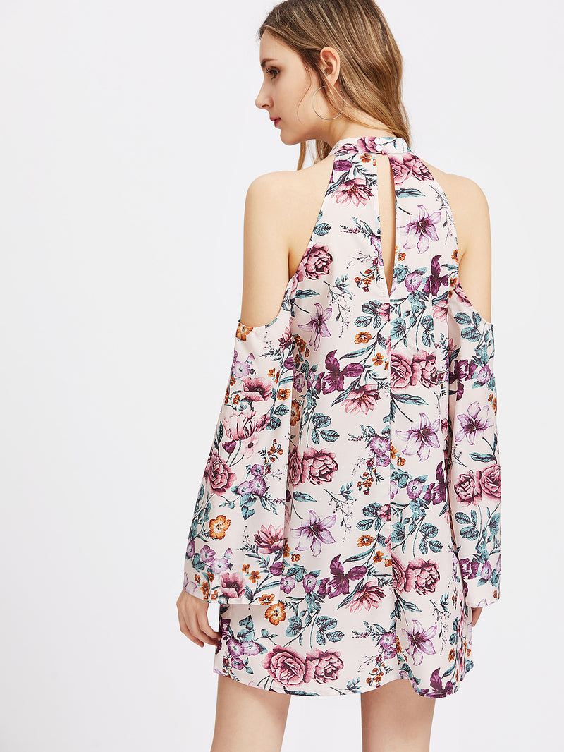 August Halter Neck Floral Dress