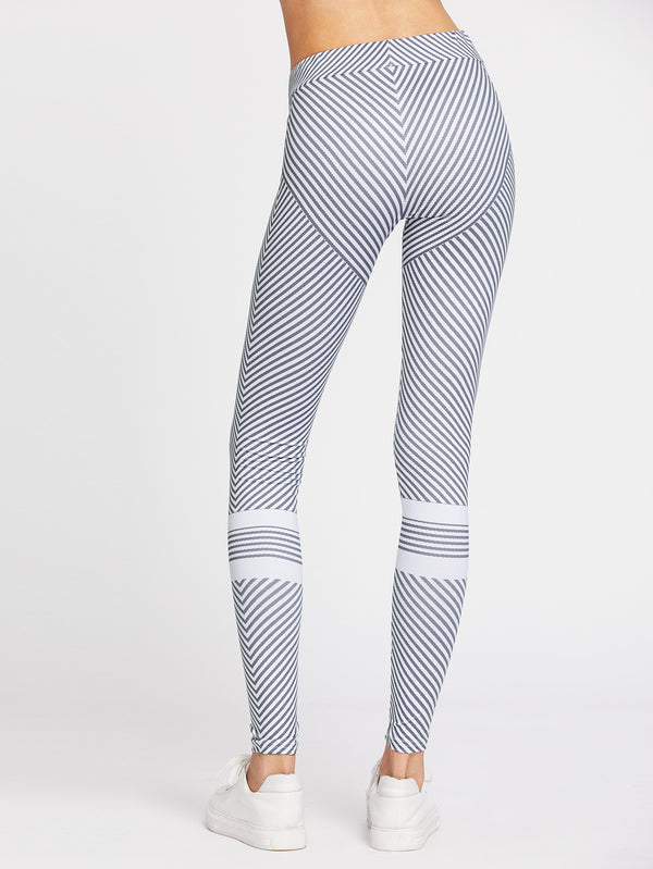 Antithetic Striped Leggings