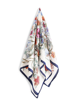 Harvest Print Contrast Boarder Head Scarf