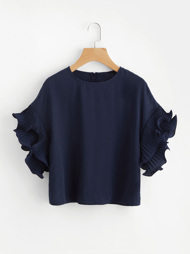 Petal Ruffle Sleeve Top